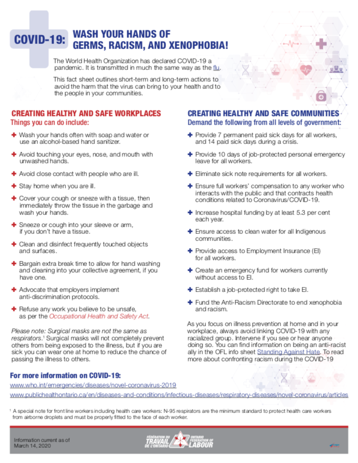 Information sheet on COVID-19