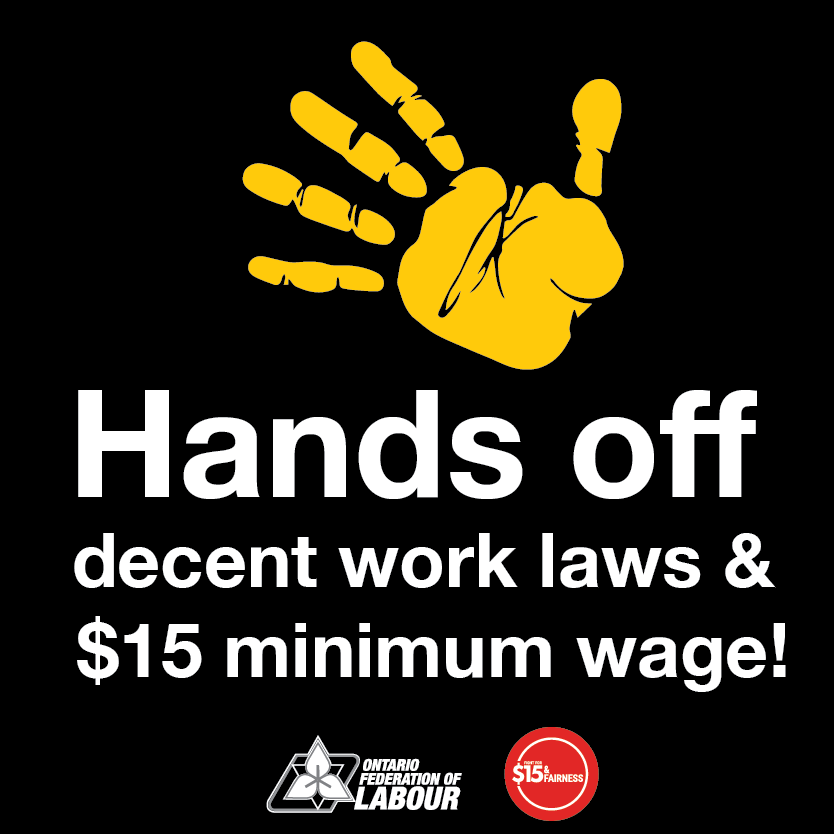 Media Advisory: To defend decent work laws and the $15 ...